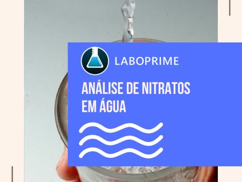análise de nitratos em água